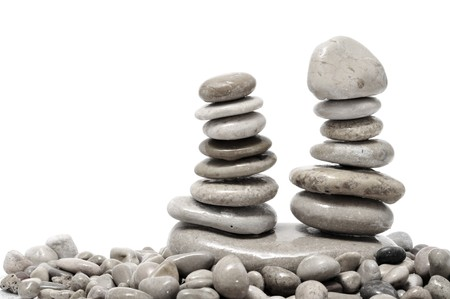 a pile of zen stones on a white background Stock Photo - 7775980