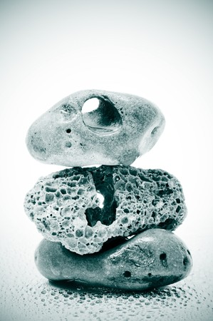 a pile of rare stones on a white background photo