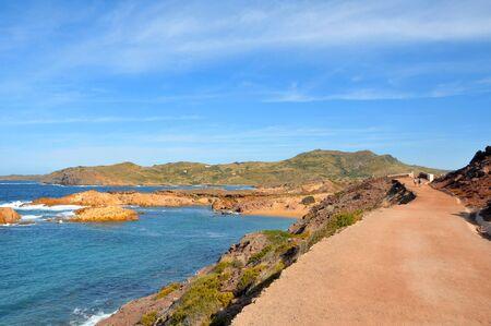 view of Pregondo beach in Menorca, Balearic Islands, Spain photo