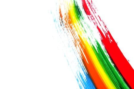 touches de différentes couleurs dans un fond blanc