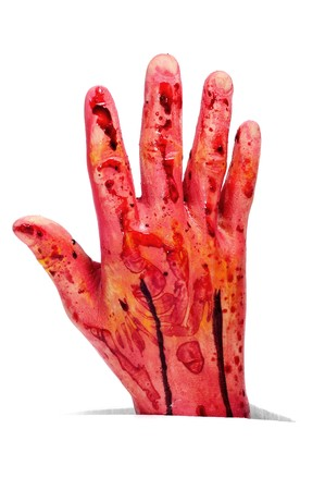 amputation: an scary amputated hand for Halloween