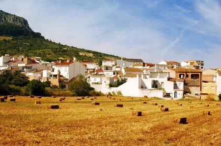 a pile of straw bales in a field in a town of Andalusia, Spain Stock Photo - 7932220