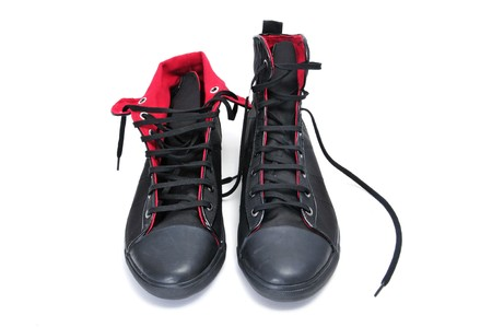 a pair of sneaker boots isolated on a white background Stock Photo - 7958568