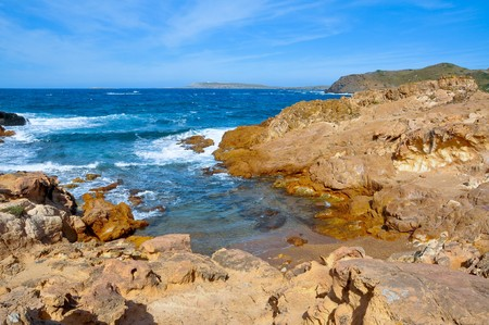 menorca: view of a little cove in Menorca, Balearic Islands, Spain