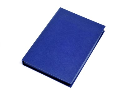 a blue book isolated on a white background Stock Photo - 7957585