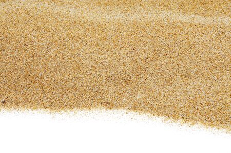 sands: closeup of sand isolated on a white background Stock Photo