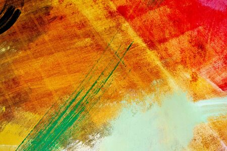designe: brushstrokes of different colors on a canvas