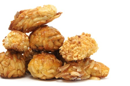 catalonia: panellets, a typical pastry of Catalonia, Spain, in All Saints holiday