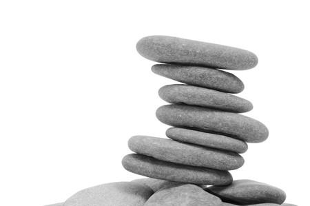 a pile of zen stones on a white background Stock Photo - 7974812
