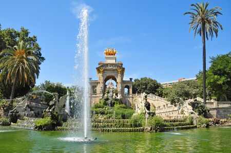 A view of Fountain of Parc de la Ciutadella, in Barcelona, Spain Stock Photo - 7985099