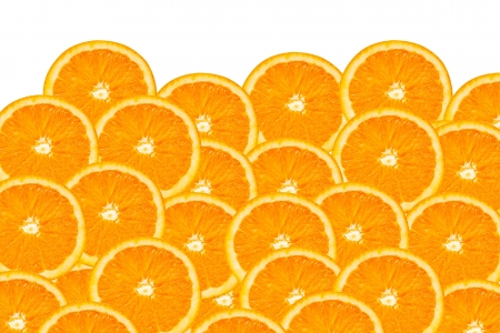 naranjas: Fondo de un primer plano de rodajas de naranjas