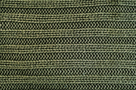 close up of a green knitted fabric photo
