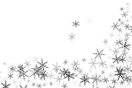 crystallization: some snowflakes drawn on a white background