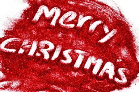 sentence merry christmas written with glitter Stock Photo - 8220090