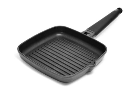 a grill pan isolated on a white background photo