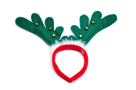 santa reindeer horns isolated on a white background  photo