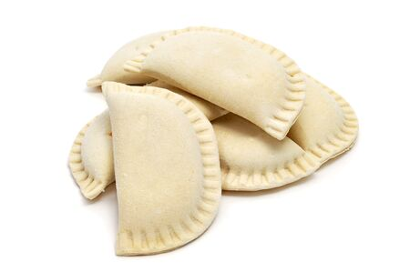 some spanish frozen empanadillas isolated on a white background Stock Photo - 8327172