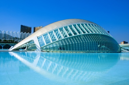Valencia, Spain - March 17, 2010 - The City of Arts and Sciences of Valencia, Spain.