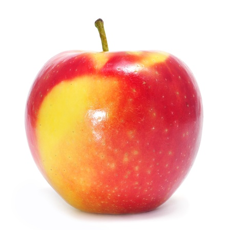 closeup of some delicous and fresh red apples