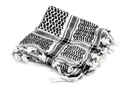 keffiyeh: Keffiyeh scarf isolated on a white background