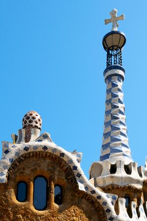 Barcelona, Spain - June 5, 2010: Park Guell, the famous park designed by Antoni Gaudi