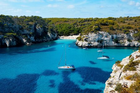 balearic: view of Macarelleta beach in Menorca, Balearic Islands, Spain