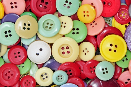 closeup of a pile of buttons of many colors Stock Photo - 8399712