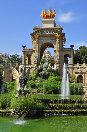 A view of Fountain of Parc de la Ciutadella, in Barcelona, Spain photo