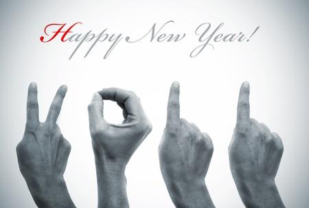 ornamentations: felice anno nuovo con le mani formando numero 2011