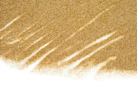 closeup of sand isolated on a white background Stock Photo - 8451584