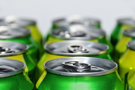 closeup of a lot of soda cans Stock Photo - 8451494