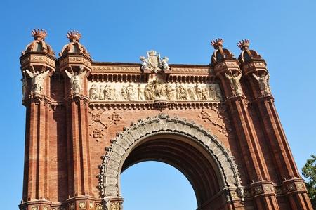 Arc de Triomf in Barcelona, Spain photo