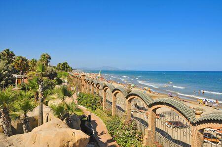 beaches of spain: A view of Marina dOr beach, in Valencia, Spain