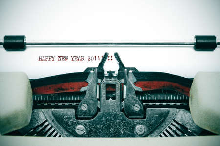 happy new year 2011 written with an old typewriter Stock Photo - 8485792