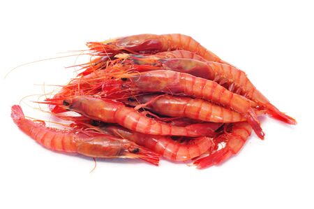 a pile of shrimps isolated on a white background Stock Photo - 8506139