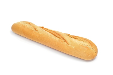 a baguette isolated on a white background