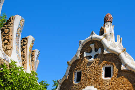 Barcelona, Spain - June 5, 2010: The famous Park Guell in Barcelona, Spain, designed by Antoni Gaudi Stock Photo - 8505404