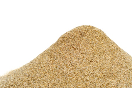 a pile of sand isolated on a white background photo
