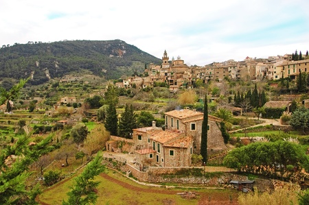 a view of Valldemossa, Mallorca, Balearic Islands, Spain Stock Photo - 8532112