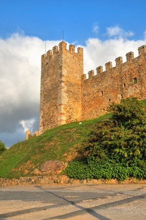 walled: A view of stone wall of Montblanc, Spain