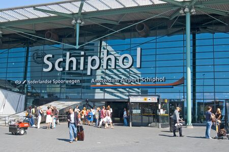 schiphol: Amsterdam Netherlands - August 23, 2009: Amsterdam Airport Schiphol in Amsterdam, Netherlands