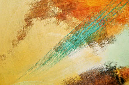 brushstrokes of different colors on a canvas photo