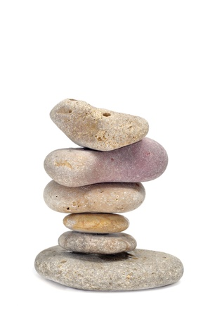 a pile of zen stones on a white background Stock Photo - 8593993