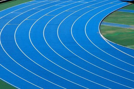 running on track: closeup and cutout of a running track
