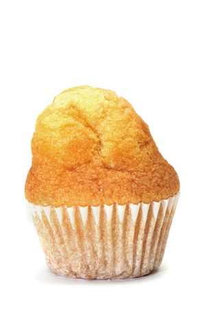 a plain cupcake on a white background Stock Photo - 8619923
