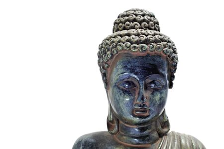 closeup of an image of buddha on a white background Stock Photo - 8665722