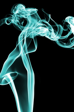 airiness: colors smoke isolated on a black background