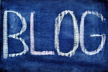 word blog written in a blackboard Stock Photo - 8708570