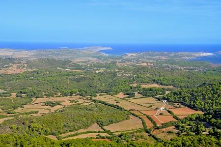 menorca: aerial view of Cap de Cavalleria in Menorca, Balearic Islands, Spain