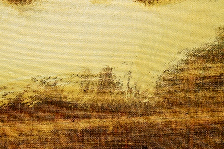 pale ocher: brushstrokes of different colors on a canvas